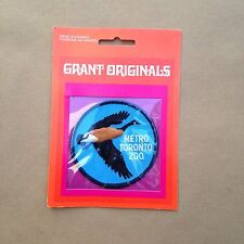 Vtg Canada Goose Bird Metro Toronto Zoo Patch Sealed Grant Emblems Embroidered