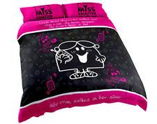 Little Miss Chatterbox Kids Black & Pink King Bed Quilt Duvet Doona Cover Set