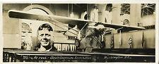 FOTOGRAFIA VINTAGE Charles Lindbergh Spirit of St. Louis AERONAUTICA AVIAZIONE