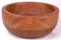 "Vintage Rare Wooden-Wood Bowl-7.5"" Across-Hand Made"