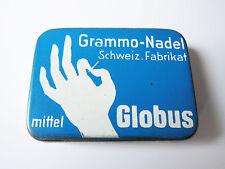 Grammophon NADELDOSE GLOBUS gramophone needle tin