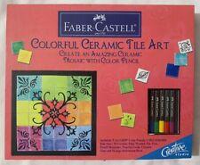 Faber-Castell Colorful Ceramic Tile Art Kit Retail Box New Free Shipping!