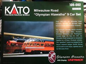 KATO 106-082 Milwaukee Olympian Hiawatha 9 Car Set - Beautiful Set - New!