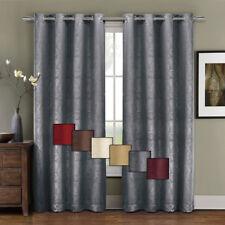 Prairie Blackout Weave Embossed Grommet Window Curtain Panel, One Panel