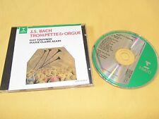 CD / J.S BACH TROMPETTE & ORGUE / GUY TOUVRON MARIE-CLAIRE ALAIN / ERATO 1988