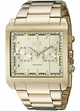 NEW Armani Exchange AX2226 Men's Tenno Gold Stainless Steel Watch