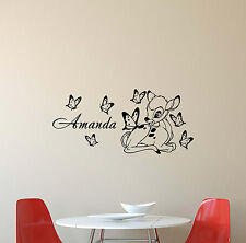 Personalized Name Bambi Wall Decal Deer Walt Disney Vinyl Sticker Art Poster 437