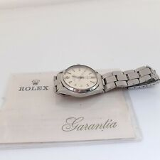 Vintage Rolex Air King Steel Automatic Silver Oyster Watch 5500 With Papers 1971