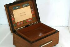 Vtg Swiss Wood Music Box Lovers Scene Top Two Songs