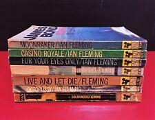 *x7 Vintage PAN Paperback Books Ian Fleming's JAMES BOND 007 rare OOP*