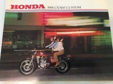 NOS 1981 CX500 Custom Honda Dealer Brochure