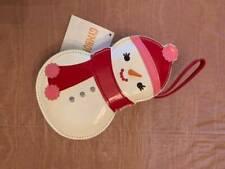 NWT Gymboree Cozy Cutie Girls Snowman Purse White Red Pink