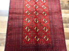 """3'7""""x5'8"""" Hand Knotted wool Authentic Vintage 300KPSI Tekkeh Bokhara area rug"""