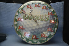 O'Doul's Golf-Themed Wall Clock - 13 inches in diameter - Lighted