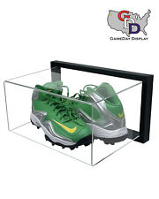Framed Acrylic Wall Mount Large Shoe Pair Display Uv Protecting Secure Mount