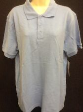 Unisex Polo Shirt Top By Classroom Uniform Size Small  Blue