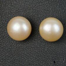 Pendientes Grandes pendientes perla cultivada Plano, liso 925 Rosa 12mm-13mm