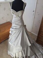 Maggie Sottero 'Myra' Silver Wedding Dress Size 10