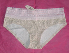 Nwt Victoria's Secret Pink Lace Animal Print Nude Beige Low Hiphugger M Panties