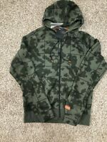 Nike Lebron James Men's SZ M Club Camo Full Zip Basketball Hoodie at3913 Greens