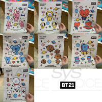 BTS BT21 Official Authentic Goods Wall Deco Sticker 7SET By Monopoly +Tracking#