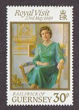 GUERNSEY, SCOTT # 410, ROYAL VISIT OF QUEEN ELIZABETH II