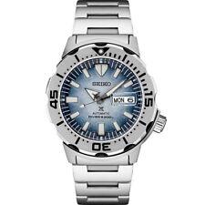 Nuevo SEIKO Prospex Océano Frost Monster Edición Especial Reloj De Acero SRPG 57