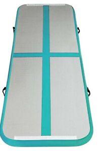 13ft Gymnastics Tumbling Mat Inflatable Tumble Track Yoga Electric Bright Teal