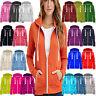 Ladies Sweatshirt Zip Jacket Coat Hoodie Jumper Womens Plain Fleece Hooded Hoody