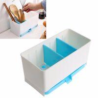 Holder Rack Basket Sponge Dry Shelf Wash Cutlery Drainer Sink Tidy Utensils