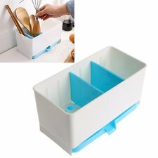Holder Rack Basket Sponge Dry Shelf Wash Cutlery Drainer Sink Tidy Utensils