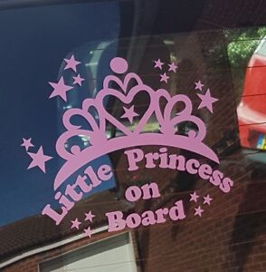 Little Princess on Board Car Window Vinyl / Sticker Decal in 12 colours