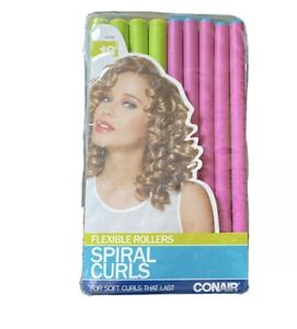 Conair SPIRAL CURLS 18 Flexible Rollers Hair Curlers / Rollers 2-SIZES  62504