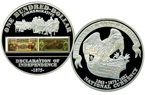 1875 $100 DECLARATION OF INDEPENDENCE COMMEMORATIVE COIN PROOF VALUE $99.95