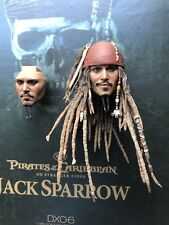 hot toys DX06 Pirates of the Caribbean Captain Jack Sparrow 1/6 Captain Head