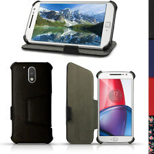 aba34c089fa PU Cuero Funda Carcasa Piel para Motorola Moto G 4 Gen XT1622 G4 Plus Case  Cover