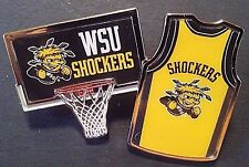 Wichita State Shockers Basketball Hat/Lapel Collector Pin Lot Of Two - EXCLUSIVE