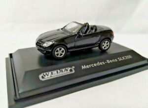 Welly 1/87 sport Euro open car roadster Diecast model Mercedes Benz SLK350 Blk