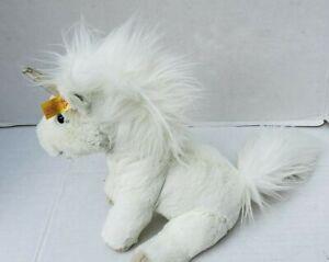 Steiff Unicorn Soft Fur Plush Toy White Blue Eyes Cuddly Friend Starly Horse