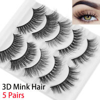 Wispy Fluffy Natural Long  False Eyelashes Eye Lashes Extension 3D Mink Hair