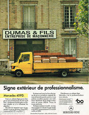 PUBLICITE ADVERTISING 065  1986  MERCEDES-BENZ   utilitaire léger 409 D