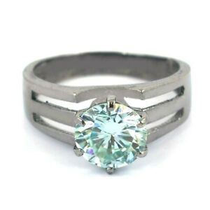 2.50 Ct Certified Light Blue Diamond Ring in Prong Style Great Shine WATCH VIDEO