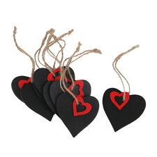 10pcs Mini Red Heart Rectangle Chalkboard Tags for Weddings Party Christmas