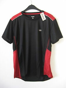 Herren Funktionsshirt  Laufshirt 100% Polyester Gr. XL - schwarz/ rot