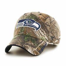 Seattle Seahawks '47 Brand Camo Realtree Frost MVP Adjustable Hat
