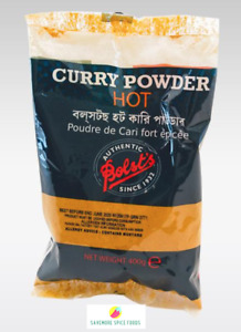 BOLSTS/ BOLST'S CURRY POWDER - HOT/ MILD - MEAT, FISH, POULTRY SEASONING - 400g