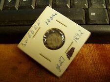 1892 SWEDEN 10 ORE COIN,VF CONDITION