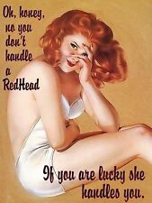 Redhead Retro Vintage Aluminium Sign Pub Bar man Cave wall