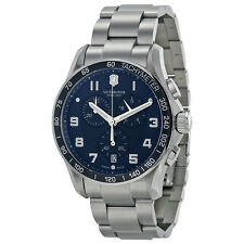 Victorinox Chrono Calssic XLS Blue Dial Steel Bracelet Mens Watch 241652