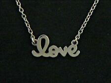 """Love Necklace 14k White Gold 16"""" long"""